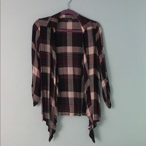Living Doll- plaid tie-front top
